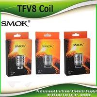Wholesale Authentic Smok TFV8 Coil Head V8 T8 V8 T6 V8 Q4 V8 X4 V8 T10 Turbo V8 RBA Replacement Coils For TFV8 Cloud Beast Tank genuine