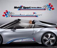 auto racing stripes - 1set white M auto Sport Race Stripes Vinyl Car Truck Body Sticker Side for BMW