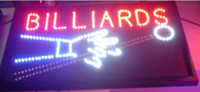 Wholesale 2016 direct selling custom led sign x19 Inch Semi outdoor Ultra Bright flashing billards store business signboard