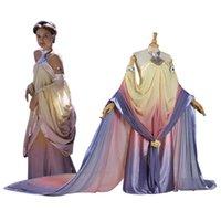 adult woman long costume - Star Wars Padme Amidala Cosplay Costume long party dresses Halloween Costume for women adult Padme Princess Dress