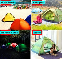 Wholesale 3 Person Waterproof Double Layer Camping Tent Outdoor Automatic Useful travel tent and shelters prevent outside Ultraviolet house