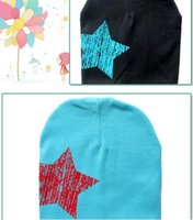 Wholesale Korean children cap five pointed star set of head cap baby cotton hat knitted hat ape head