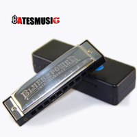 Wholesale Harmonica SWAN Senior Bruce Hole BLUES with case Brass stainless steel