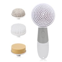 Wholesale 4 in1 Electric Facial Cleanser Skin Beauty Care Rotary Brush for Wash Face Spin Body Cleaning Foot SPA Care Tools