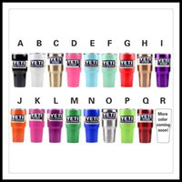 Wholesale Yeti Rambler Tumbler Cups oz Stainless Steel Mug Colors Black White Blue Pink Red Lime Green Purple Gold Bronze In Stock