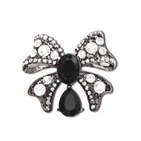 beaded broach - Cheap Black Rhinestone Brooches Women Broaches Collar Clip For Lover Dual Shiny Rhinestone Brooch Elegant Beaded Nice Jewelry