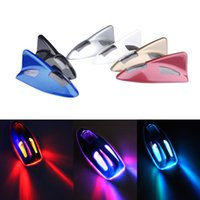 automotive flashing lights - New Solar Car Warning Light LED Shark Fin Shape Automotive Multifunction Rear end Flashing Light LED Lamps for Cars