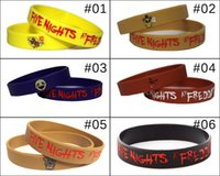 Wholesale Five nights at freddy s silicone bracelet wrist straps FNAF figure kid toys christmas gift DHL