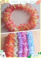 Wholesale 10pcs Artificial Flowers Wreath Party Decoration Hawaiian Flower Leis Wedding Birthday Party Decor