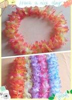Wholesale 10pcs Artificial Flowers Wreath Party Decoration Hawaiian Flower Leis Wedding Birthday Party Decor