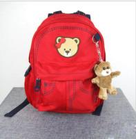 beer backpack - Fashion Korean Cartoon Style Litter Beer Cute Canvas Backpack Bag Nursery Elementary School Student Bag Children Kids Daypack Backpacks