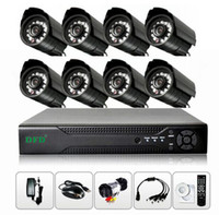 Wholesale CCTV security H AHD DVR kit mm mm dome IR camera