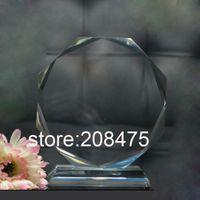 crystal trophy award - blank crystal trophy with sandblasting logo crystal medal awards