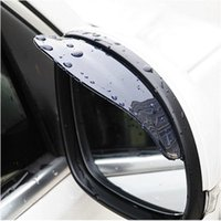 Wholesale Universal Flexib PVC Rearview Mirror Rain Shade Rainproof Car back mirror eyebrow rain cover for ford focus Hyundai solaris Mazda CX