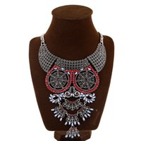 collar necklace - Austrian Crystal Owl Bib Statement Necklace Pendant Women Gypsy Vintage Choker Collar Ethnic Bohemia Necklace Women Fine Jewelry