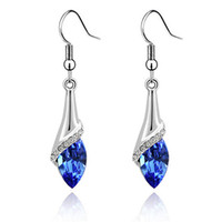 Wholesale Austrian Crystal Drop Earrings For Womens Made With Swarovski Elements Long Dangle Earring Vintage Fashion Jewelry