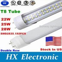 Cheap LED T8 Tube 4FT 25w 28w 36W 2800LM SMD2835 192LEDS Light Lamp Bulb 4 feet 1.2m Double row 85-265V led lighting fluorescent