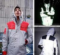 Wholesale New Mens windbreaker north jacket M Flag reflective Outdoor Waterproof Windproof Sports college sportswear hoody coats L286