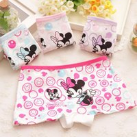 Wholesale 2T T Cotton Underwear Girls Panties Girl s Boxer Short Underpants High Quality Character Mickey