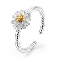 adjust tension - 12Pcs Brand New Trendy Chrysanthemum Cluster Rings Openings Adjusted Sterling Silver Fashion Jewelry Women Rings Nice Gift