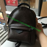 backpack medium size - Top Grade Brown Real Leather Women PALM SPRINGS BACKPACK MM Size M41561 Lady Canvas Coated Style