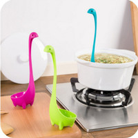 Wholesale Lovely Useful Nessie Soup Ladle Loch Ness Monster Design Upright Spoon Home Kitchen Bar Cute Cooking Accessories
