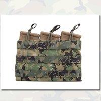 Wholesale Tactical Triple Open Top MOLLE Magazine Mag Pouch Holster Army Pouches Combat Gear Multicam Fabric Pouches MC EM6356