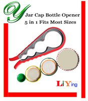 beer can size - Can jar opener beer bottle opener universal in1 circles fits most sizes lids cap opening manual easy rubber grip for seniors Kitchen Tool