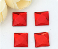 Wholesale 6color Square flat rhinestone Crystal jewelry findings garment accessory diy supplies mm mm mm