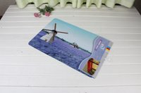 Wholesale 40x60cm Purple Windmill Printed Bath Mats Anti slip Rug Carpet For Bethroom Outdoor Rectangle Europe Style Carpet