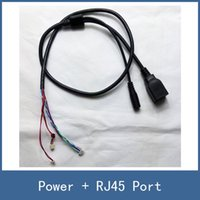 Wholesale 2016 High Quality Color CCTV IP Security Camera Module Circut Board PCB Cable Lines Network RJ45 DC V Power Port Connector