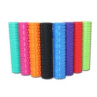Wholesale Skidless Hollow Foam Roller cm cm Multi Colors High Density EVA Muscle Massage Roller Cellulite Therapy Health Fitness Tools