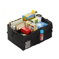 Wholesale Foldable Car Trunk Organizer Cargo Storage Container with Rigid Plates and Side Pockets for Car Truck or SUV