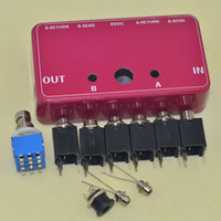 aluminum switch box - DIY Dual Loops True Bypass Guitar Aluminum Pedals Box Foot Pedal Switch Kit
