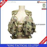 Wholesale tactical vest MOLLE vest Military airsoft paintball combat assault vest woodland green black Tactical Vest