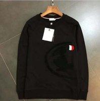 Wholesale New Arrival Bird embroidery Mens Hoodies Sweatshirts O neck Mens Sweatshirts Long Mens Tee Sudaderas Hombre