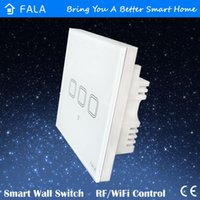 Wholesale 3 gang wifi light wall switches W v UK standard touch screen glass panel