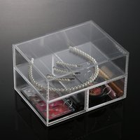 Wholesale Clear Storage Case Stock Anti Scratch Clear Acrylic Drawers New Makeup Organizer Drawers Cosmetic Holder Display Case High Quality