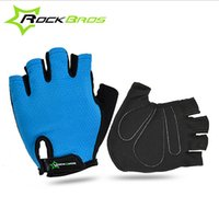 Wholesale ROCKBROS Non Slip Breathable Mens Women s Summer Sports Wear Bike Bicycle Cycling Cycle Gel Pad Short Half Finger Gloves Style