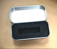 Wholesale 5PCS Mini Rectangular USB tin box Metal packaging Transparent gift box Size x x MM