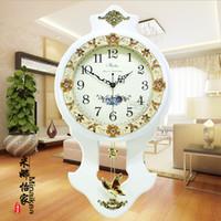 antique clock pendulum - Q Home Decor European Mute Solid Wooden Antique Wall Clock Bedroom Large Quartz Pendulum Electronic Clock
