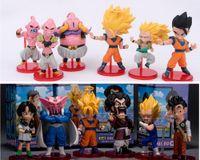Wholesale 6pcs Dragon ball Z Action Figures Budokai Son Goku Gohan Vegeta Dragonball PVC Model Toy Japanese Anime Figure Dragon Ball Kai