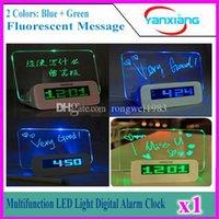 Avis dirigés France-Alarme 1pcs multifonction Digital Light LED Clock Fluorescent message Panneau Snooze Calendrier Minuteur Température + surligneur YX-LYD-01