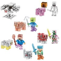 abs plastic safe - 6pcs set Hot Sale Building Blocks Toys Minifigures Model Game Juguetes Action Figures Safe ABS Gifts for Kids Brinquedos