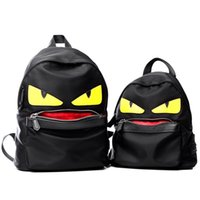 big bag pack - The New Trend of Nylon Backpacks Big Eyes Small Monster Shoulder bag Schoolbag Female Male Chest Pack
