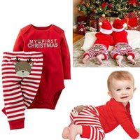baby s first christmas - First Christmas Newborn Baby Boys Girls Kids Dress Romper Bodysuit Outfits Christmas Gifts Children s suits