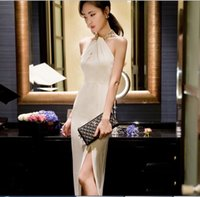 Wholesale 8847 Tracyexp Brand new Runway dresses lady long dress Crew New S M L white black rose red colors piece Sexy club sleeveless