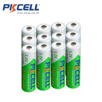 Wholesale 12 x PKCELL Low self discharge Durable AA Battery V mAh Ni MH Rechargeable Batteries Volt A Batteries