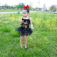 baby onsies - Ins New Summer Girls Lace Tutu Dress Baby Bodysuit Romper Onsies Kids Cake Dresses Children Costume Pettiskirt Set Slip Dresses