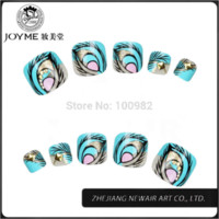 Wholesale Elegant series Toe Tips Peacock Fake Toe Nails Tips Patch Full Cover Luxury d Toe Decoration New Brand Nail Accessory